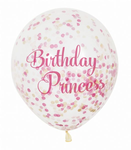 Clear Latex Confetti  Birthday Princess